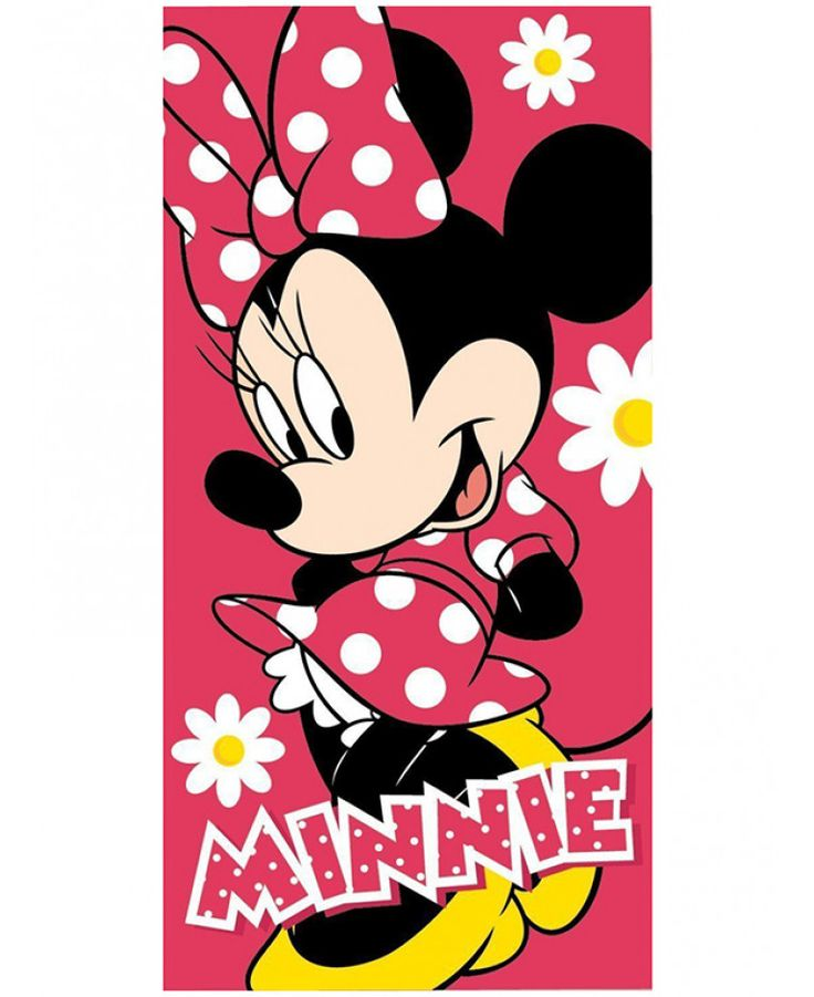 This Minnie Mouse Beach Towel is ideal for use at the beach, pool or at home and features Minnie Mouse on a red background. Free UK delivery available