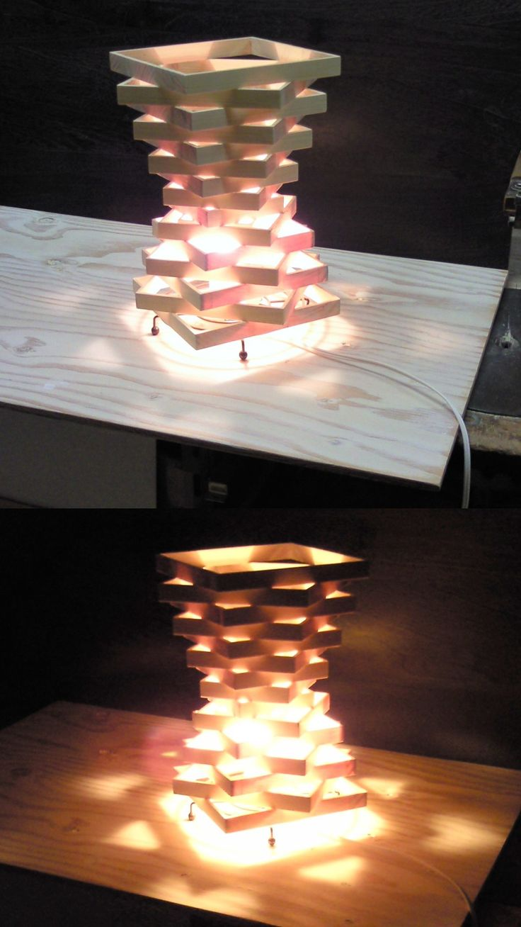 Wooden Lamp Shade (maybe not laser cut)  Just the shape, not as a lamp, perhaps legs.