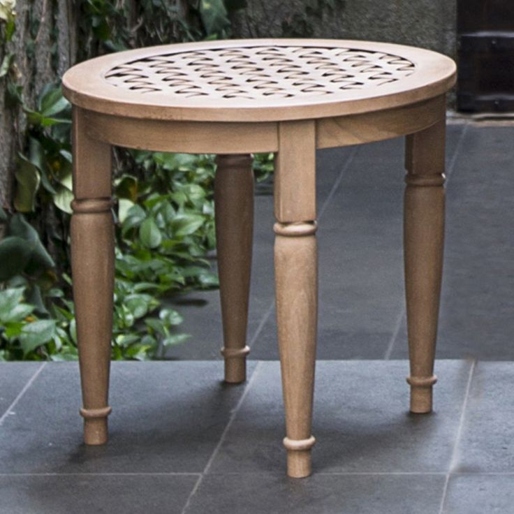 Cambridge Casual Catalunya Round Side Table - Round, turned legs and a woven top give the Cambridge Casual Catalunya Round Side Table a classic English garden feel. This patio side table is...