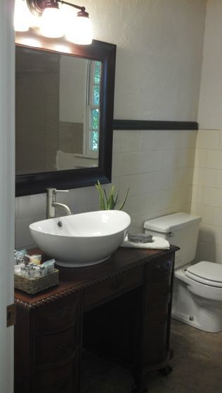 bathroom vanity with vessel sink