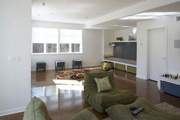 Kid-Friendly Basement - traditional - basement - minneapolis - TreHus Architects+Interior Designers+Builders