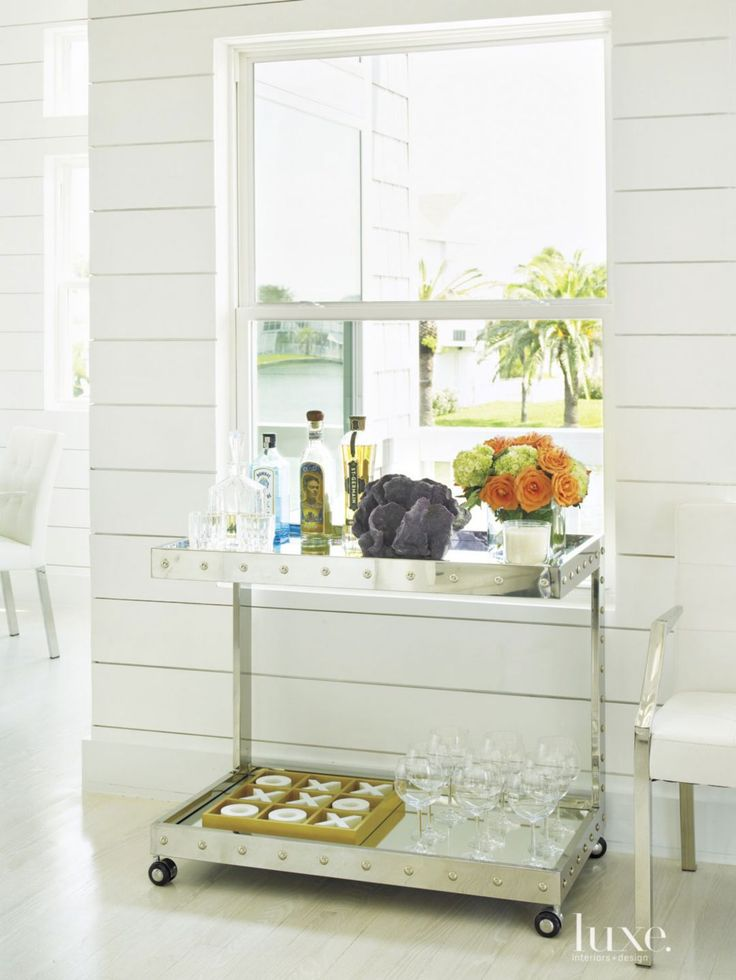 All-White Weekend Home with Nautical Shiplap Paneling ...