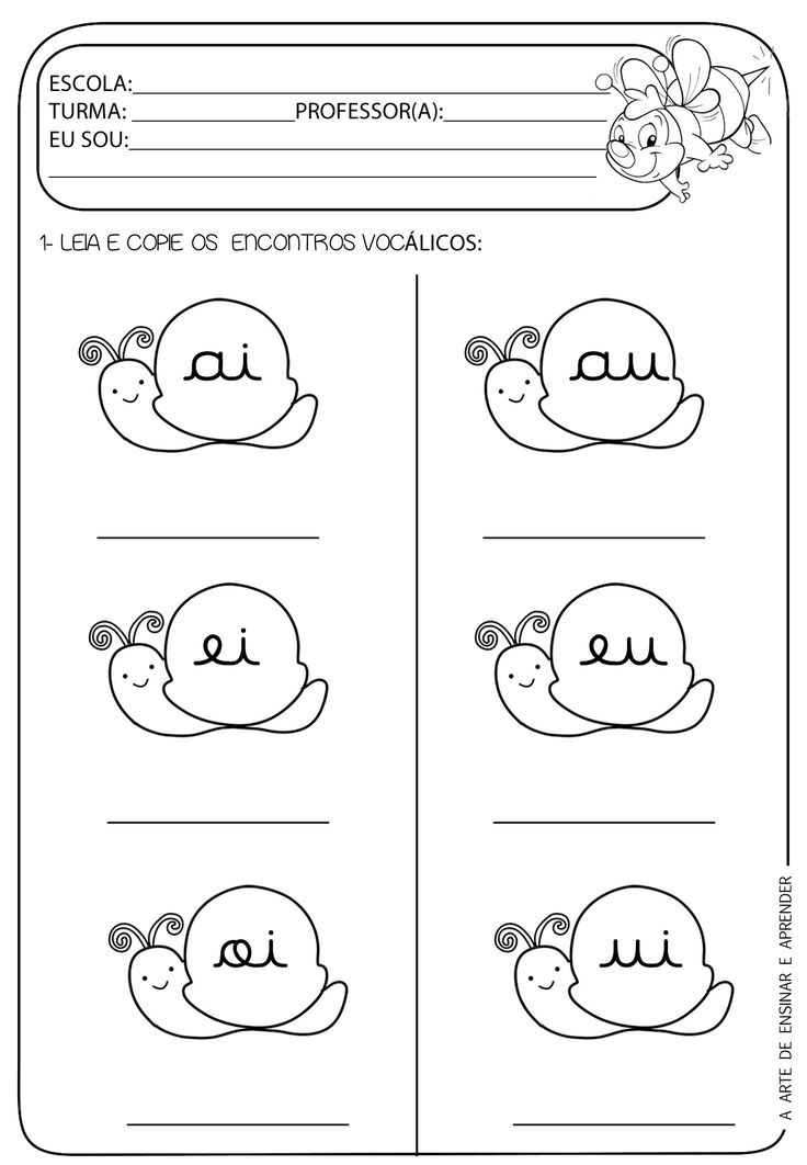 A Arte de Ensinar e Aprender: Atividade pronta - Encontros vocálicos