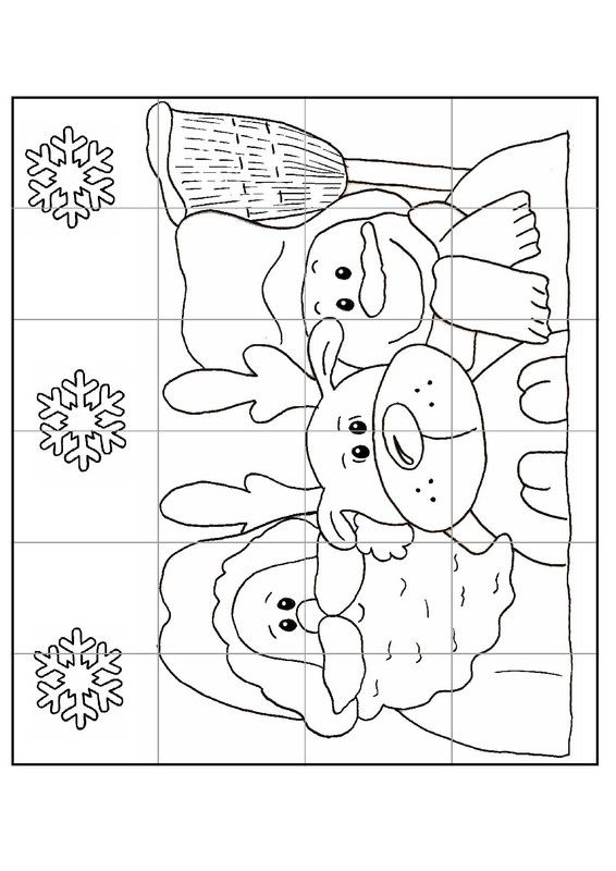Gabarit - Calendrier de l'Avent puzzle n°2