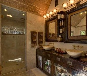 Master Bathroom Steam Shower And Marble Sinks