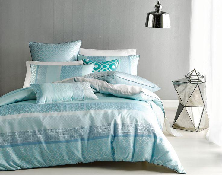 Nu Edition Rafi Duvet Cover Set - blue - shop by colour - duvet covers - queenb