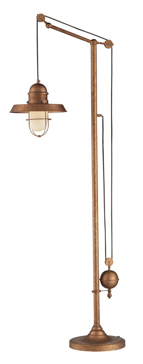 Farmhouse Bellweather Copper Floor Lamp