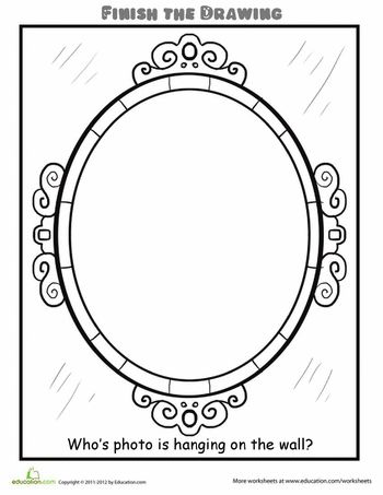 Worksheets: Finish the Drawing: Fill in the Photo