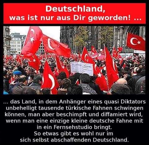 Deutschland, was ist nur aus dir geworden! Diktator, Türken, Fahnen, Flaggen