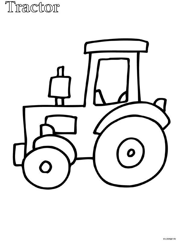 Kleurplaat Peuter kleurplaat tractor - Kleurplaten.nl