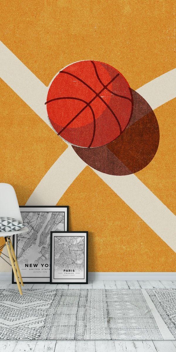Balls Basketball Indoor Wall Mural In 2020 Wall Murals Mural Sports Wall