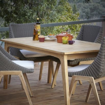 Loving This Retro Rattan Garden Furniture And Table From BQ