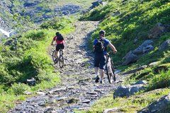 Biking the Lavka-trail from Hatteng to Skibotn in Northern Norway. ca 70 km