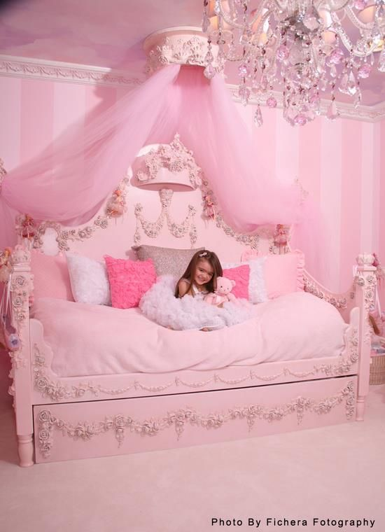 Pink princess room bedroom decorating ideas for the for Princess bedroom
