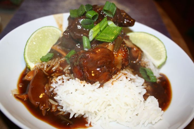 images of chinese oxtail beef stew | Oxtail stew over rice