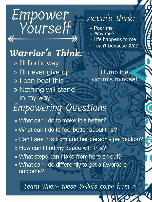 Everyone is on their own unique journey. When you learn this, as well as how to love yourself and be at peace with yourself, you stop judging yourself and accept others as well. get out of the victim's mindset and into one of empowerment. learn how to empower yourself as the positive warrior of love, light and joy you are with these questions. meditate on it.