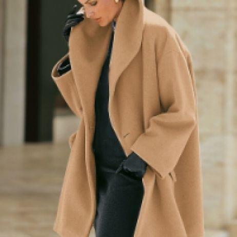 Cashmere Swing Coat Love a great swing coat.