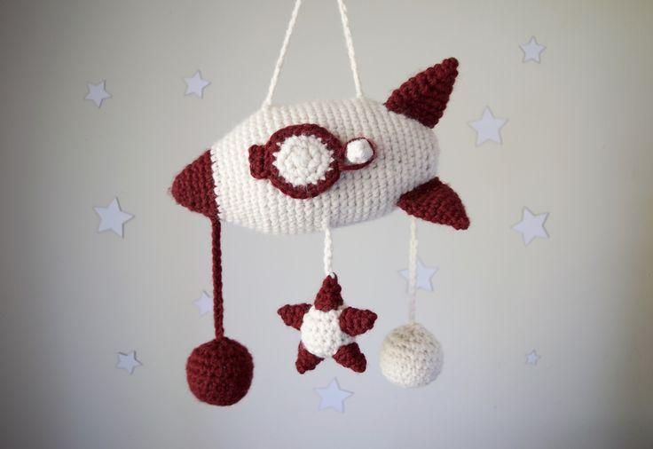 Crochet Kit - Spaceship Crib Mobile - Kits - Lion Brand Yarn
