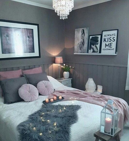 Love the whole bed set and pillows and blankets and the colors of the room except would like a lighter wall color