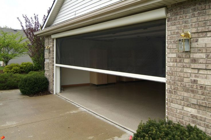 Exterior garage screen doors roll up retractable or for Rollaway screen door parts