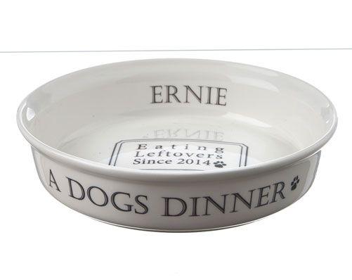 'A Dog's Dinner' White Bowl