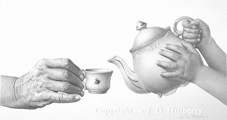 Tea Party Drawings | Berikut beberapa karya pensil drawing oleh seniman JD Hillberry...I love this picture