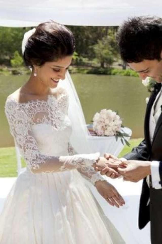 Brautkleid langarm Spitze  Wedding  Pinterest