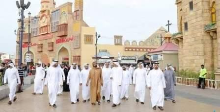 Sheikh Mohammed makes surprise visit to Global Village #dubai