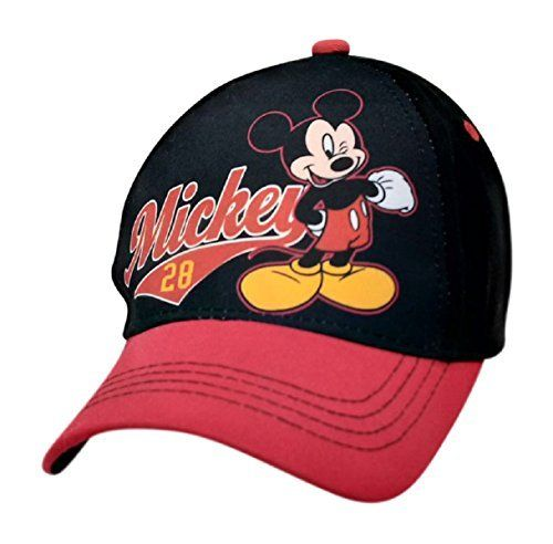 Disney Mickey Mouse 28 Baseball Cap for Little Boys Red black     More 8fba3be79e5e