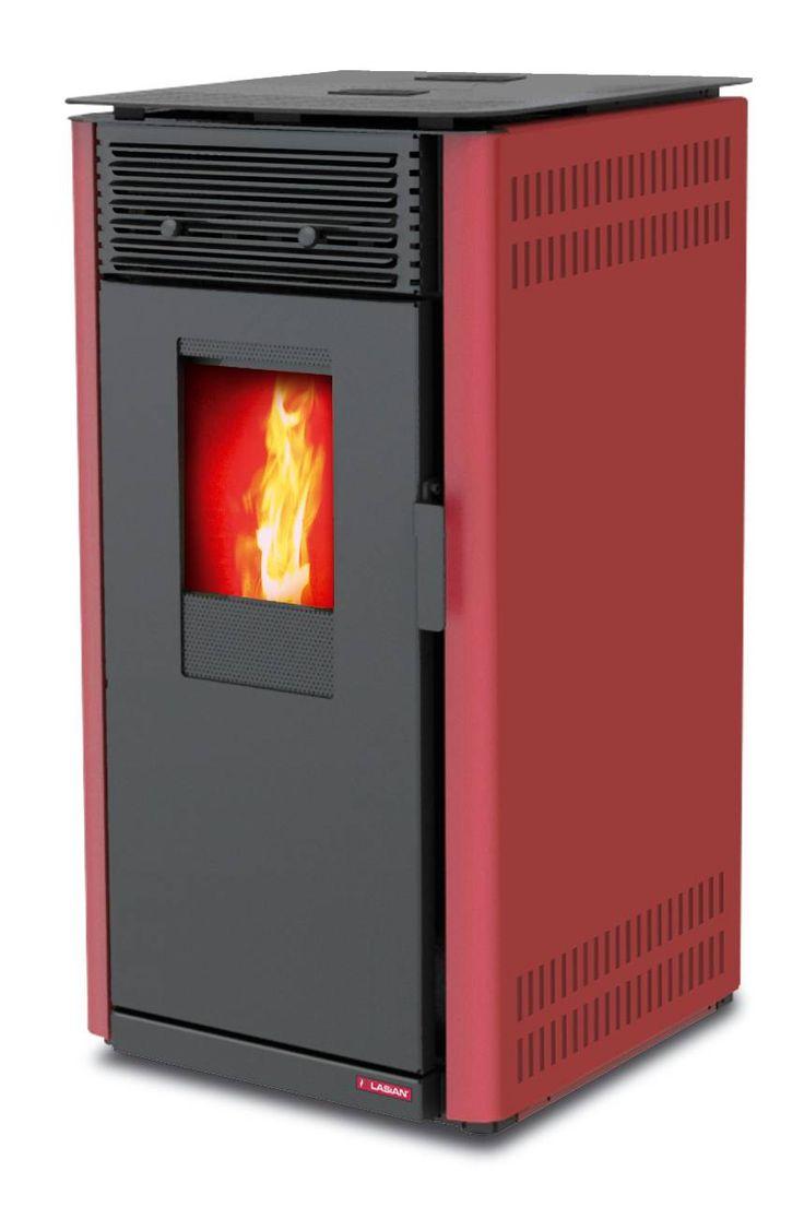 Lascar. Estufas de pellets aire de 8 kW. Lasian. Calientan hasta 205 m3. Mando a distancia opcional