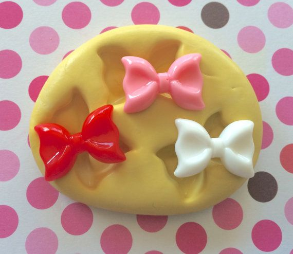 BOW Set Silicone MOLD - Resin Bow Molds, Soap, Cake Pops, Cookie Decoration, Bow Mold, Polymer Clay Molds, Craft Supply, Clay Molds