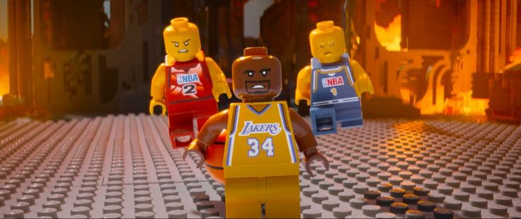 NBA and Los Angeles Lakers x Lego toys in THE LEGO MOVIE (2014) #NBA #LosAngelesLakers