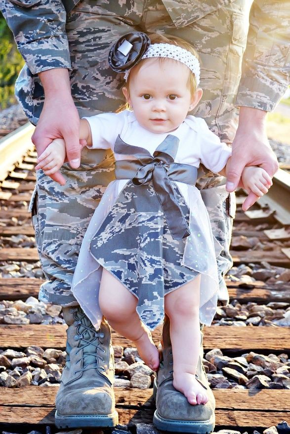 air force baby girl - she matches dad