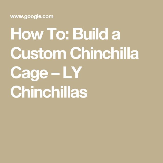 How To: Build a Custom Chinchilla Cage – LY Chinchillas