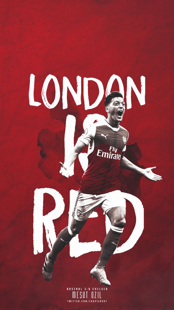 London is RED #MESUT OZIL #ARSENAL FC