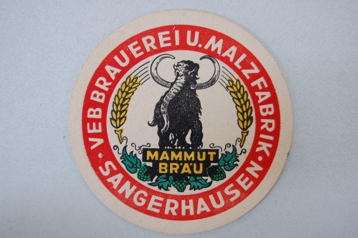 """/ae DDR Museum - Museum: Objektdatenbank - """"Mammut Bräu vom VEB Brauereri und Malzfabrik Sangerhausen"""" Copyright: DDR Museum, Berlin. Eine kommerzielle Nutzung des Bildes ist nicht erlaubt, but feel free to repin it!"""