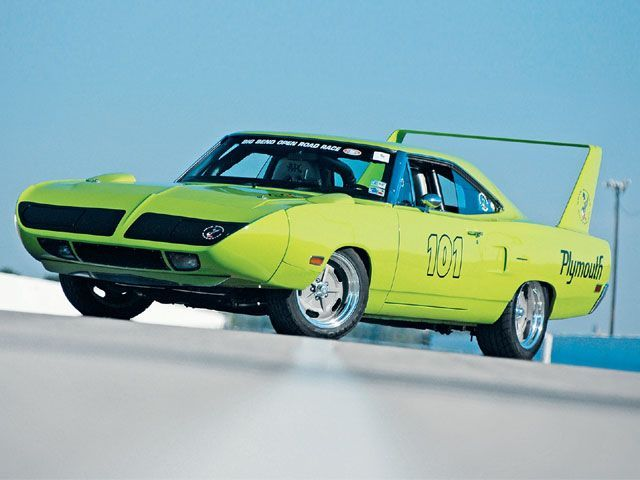 "1970 Plymouth Road Runner Superbird  (Are there Road Runners w/o the fin thingy?"" There was a ""Beep Beep"" TV ad years ago. My car knowledge is underwhelming... :)  K"