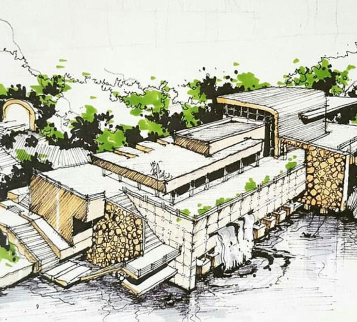 Landscape Architecture Drawings 8 best landscape + architectural hand drawings images on pinterest
