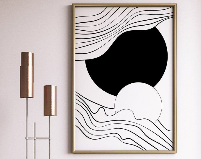 Office wall art Modern large print Nordic print art Minimalist Geometric Art Print Large Minimalist Printable Art Geometric poster art