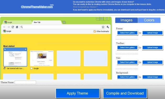ChromeThemeMaker, crea tus propios temas para Chrome con esta utilidad web gratuita