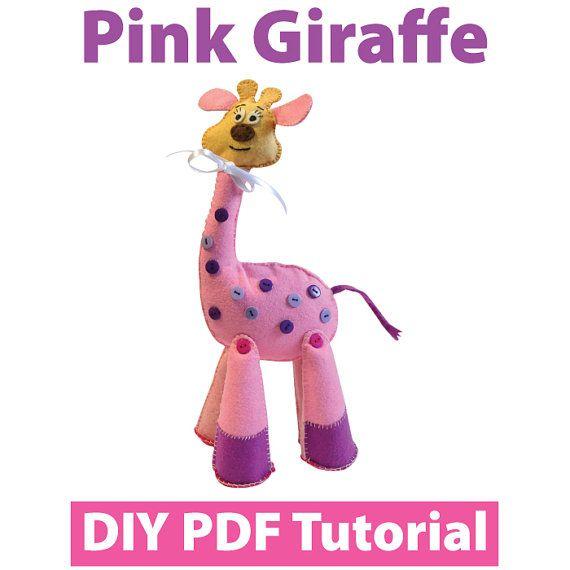 Pink Giraffe PDF Tutorial INSTANT DOWNLOAD by vitbich on Etsy, $4.30