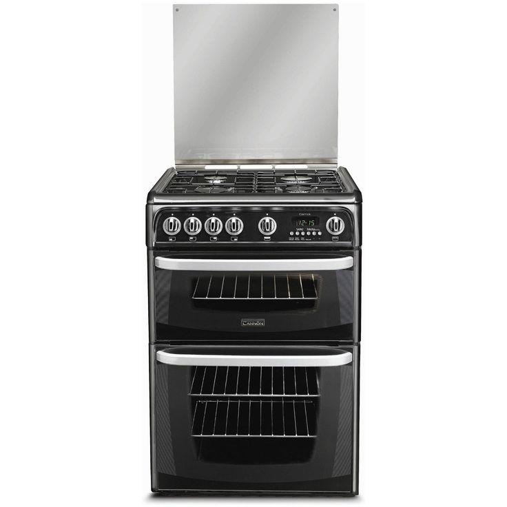 cannon ch60gcik 60cm lpg gas cooker double ovens lpg grill u0026 lpg hob - Gas Ovens