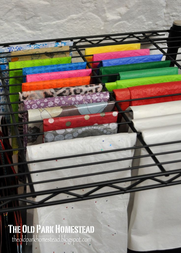 This was used for tissue paper storage...but wouldn't it be good for fabric storage too?
