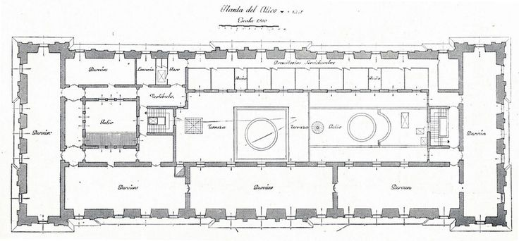 The Devoted Classicist: Palacio de Liria: The Madrid Residence Of The Duchess Of Alba  The Attic Floor Plan, Liria Palace.
