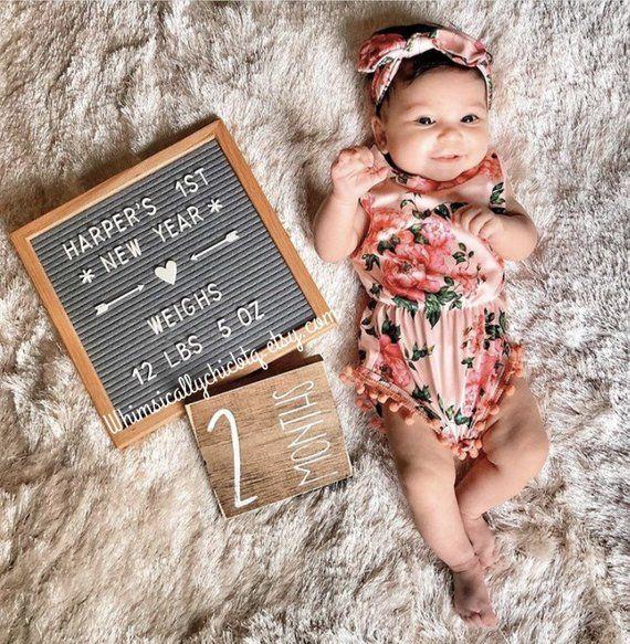 Month Milestones Baby Photo Prop Baby Milestone Blocks Monthly Baby Baby Shower Gi Baby Milestone Photos Baby Milestones Pictures Monthly Baby Pictures