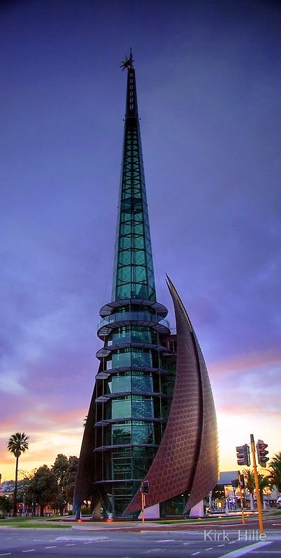 Sunrise at the Perth Bell Tower in Western Australia