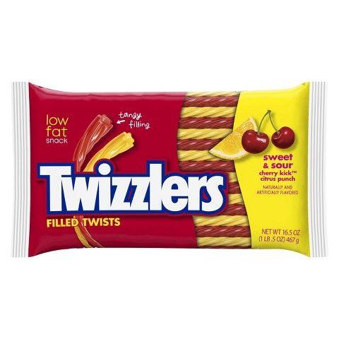 Twizzlers Sweet & Sour Cherry Kick Citrus Punch Twists 16.5 oz