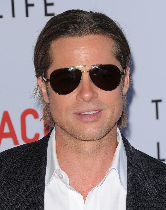 Coiffure de Brad Pitt : le wet look en 2011