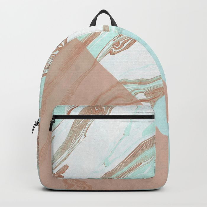 Buy Mint and Cocoa Marble #society6 #buyart #decor Backpack by mirimo. Worldwide shipping available at Society6.com. Just one of millions of high quality products available.