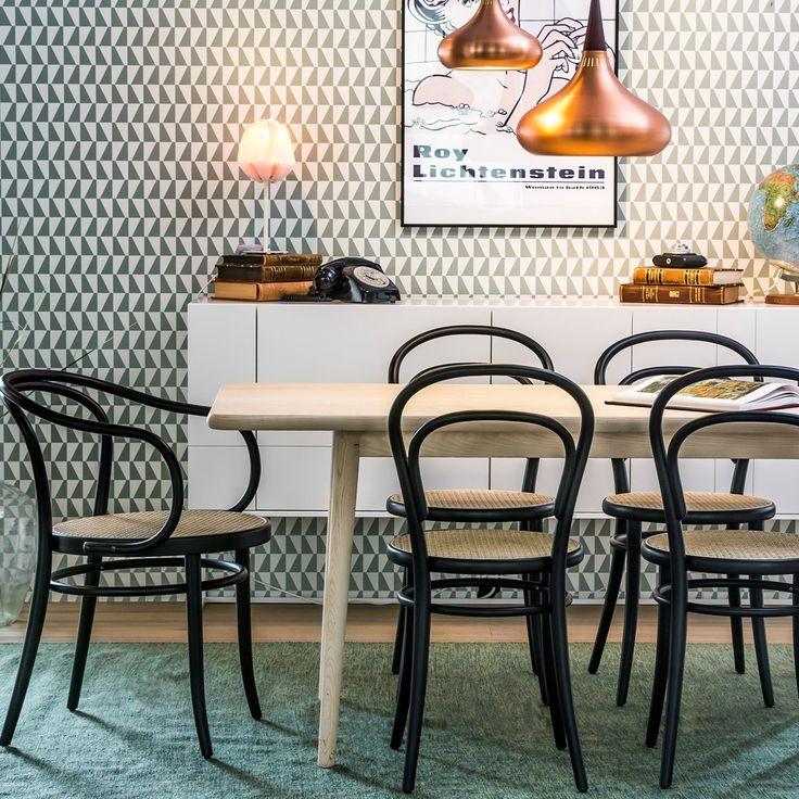 Svenssons i Lammhult - Möbler - Stolar / Ton Chair no.14 / svart, rotting sits